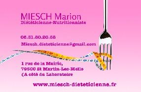 MIESCH Marion Diététicienne-Nutritionniste Saint Martin lès Melle