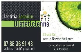 Laetitia LAHAILLE Diététicienne Nutritionniste  La Barthe de Neste