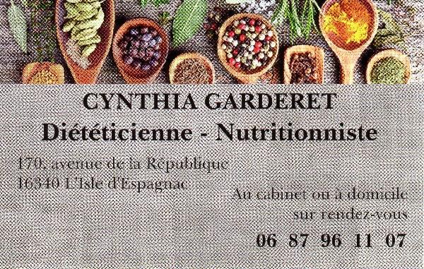 Cynthia GARDERET Diététicienne - Nutritionniste L'Isle d'Espagnac